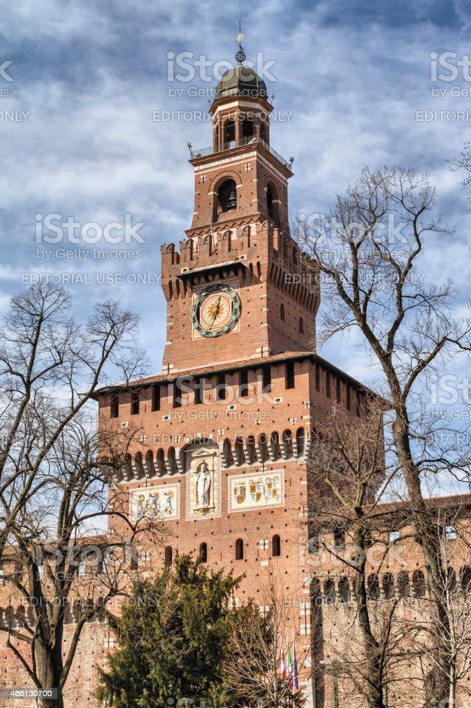 Sforza Castle in Milan (Italy) stock photo