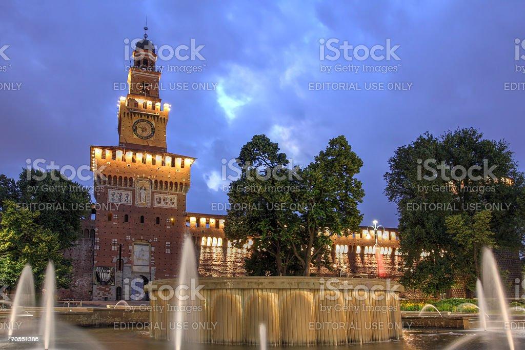 Sforza Castle, Milan, Italy stock photo