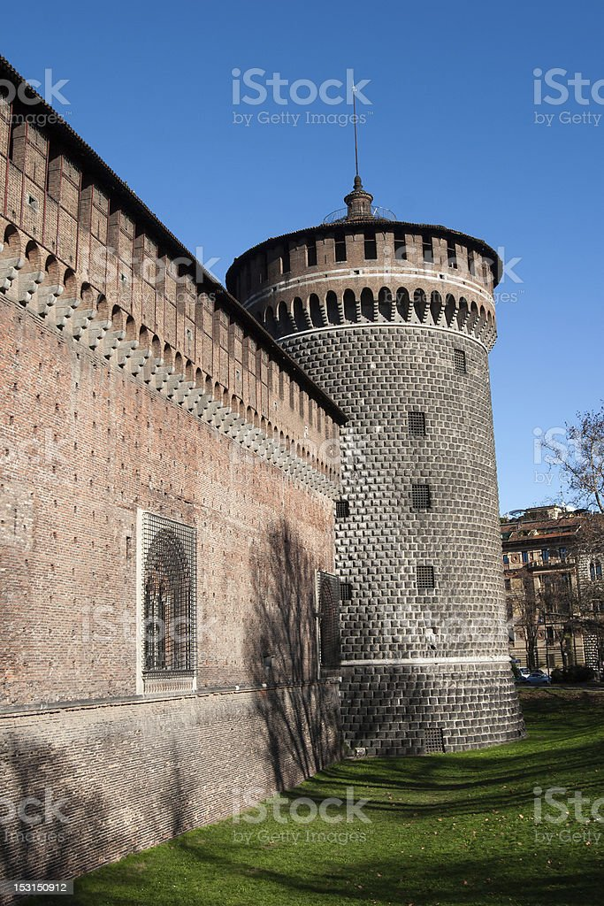 Sforza's Castle, Italy stock photo