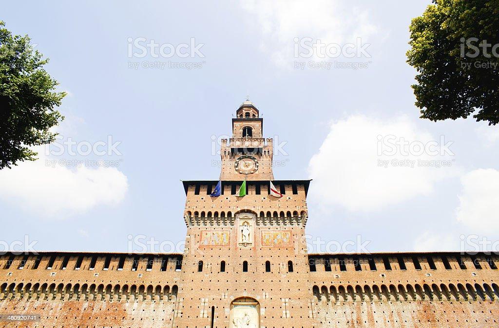 Sforzesco castle, Milan stock photo
