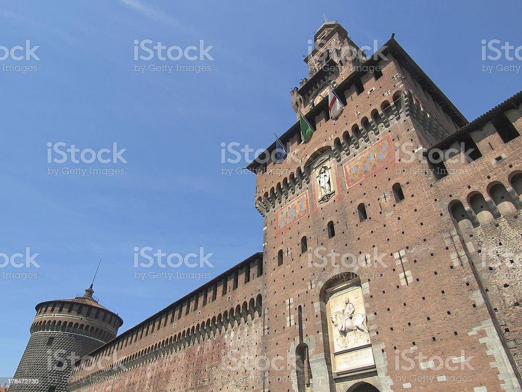 Sforzesco palace, Milan stock photo