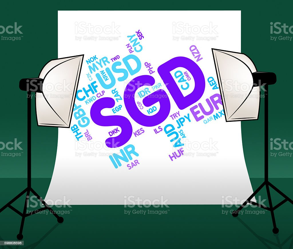 Sgd Currency Represents Foreign Exchange And Banknote stock photo