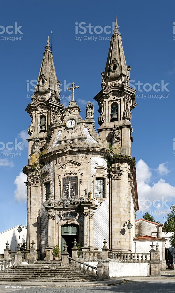 S.Gualter Church in Guimaraes royalty-free stock photo