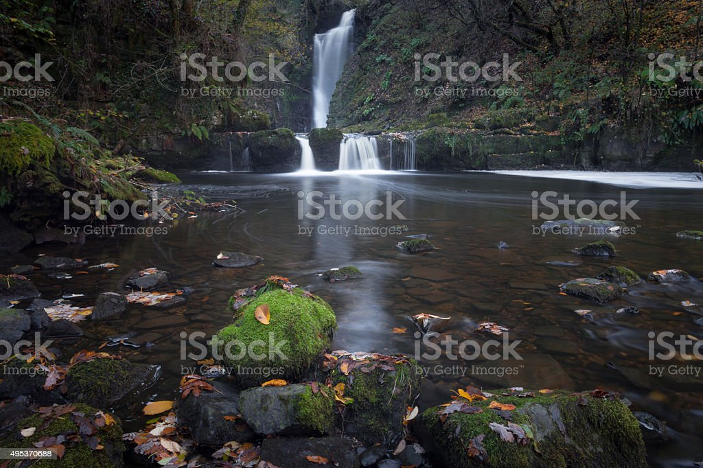 Sgwd Einion Gam Waterfall Country stock photo