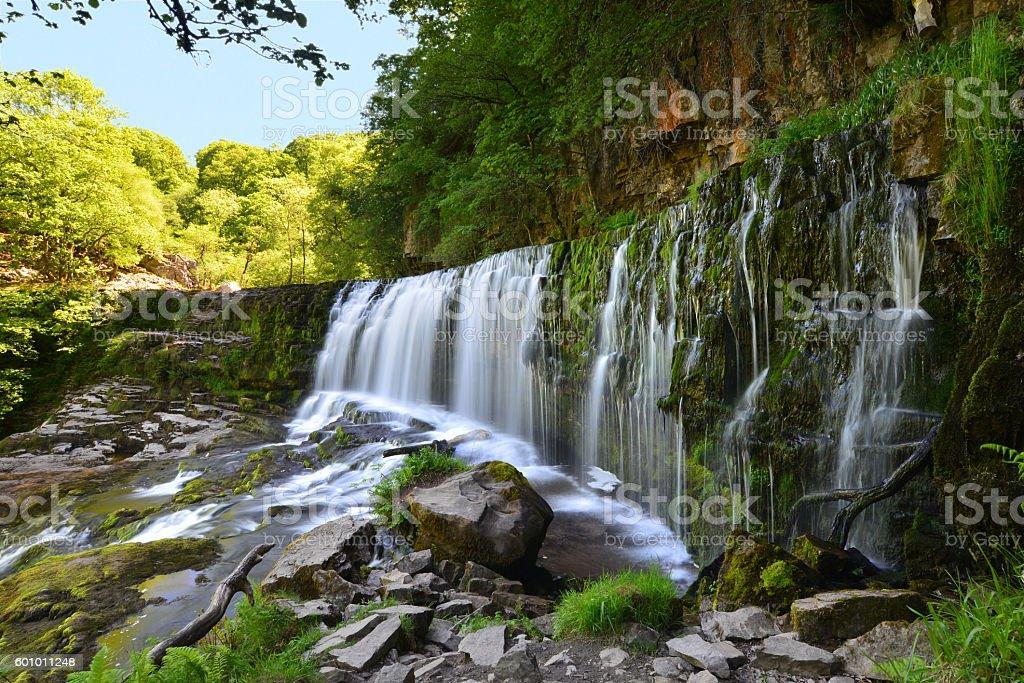 Sgwd Isaf Clun-gwyn Waterfall stock photo