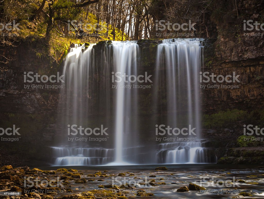 Sgwd yr Eira or 'fall of snow' stock photo