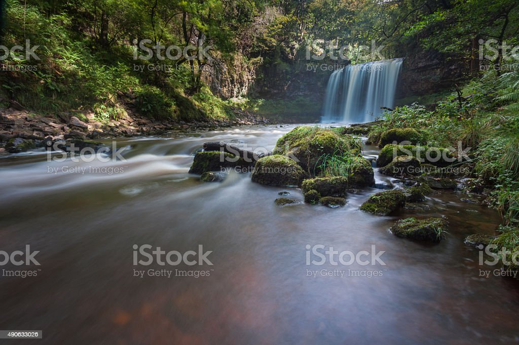 Sgwd yr Eira Waterfall Country stock photo