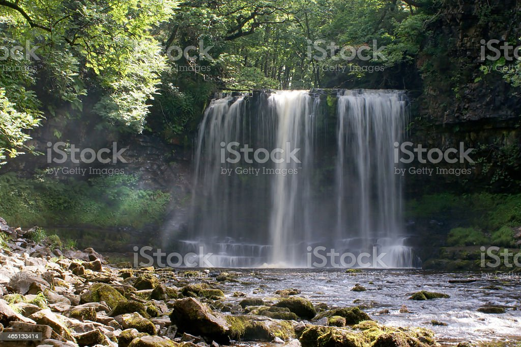 Sgwd yr Eira Waterfall within the Brecon Beacons National Park stock photo