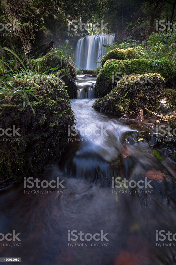 Sgwd yr Eira waterfalls stock photo