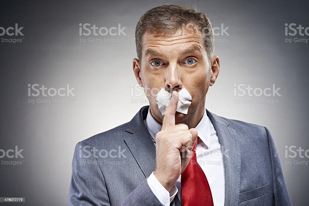 Sh! Hush! stock photo