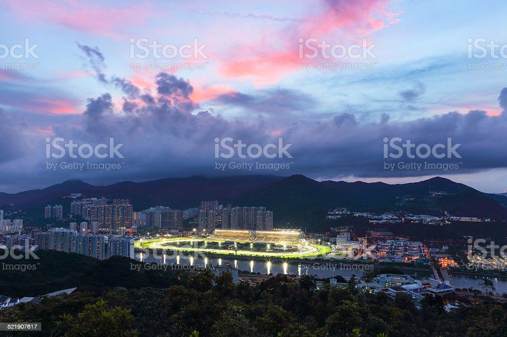 Sha Tin Racecourse Hong Kong stock photo