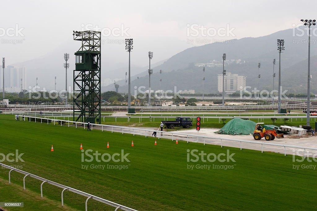 Sha Tin Racecourse, Hong Kong stock photo