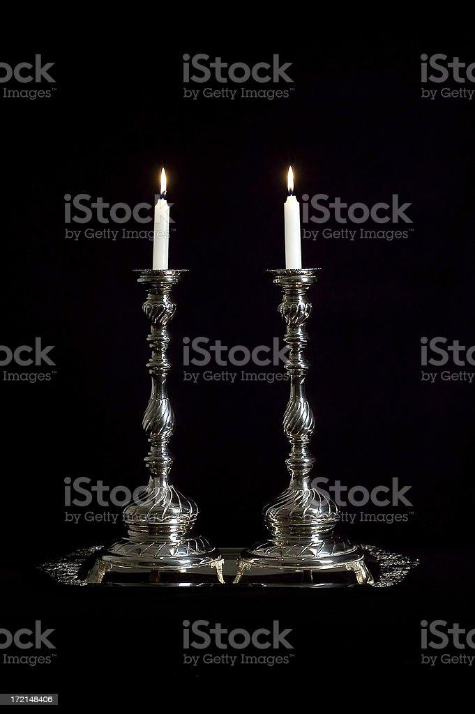 Shabbat Candles royalty-free stock photo