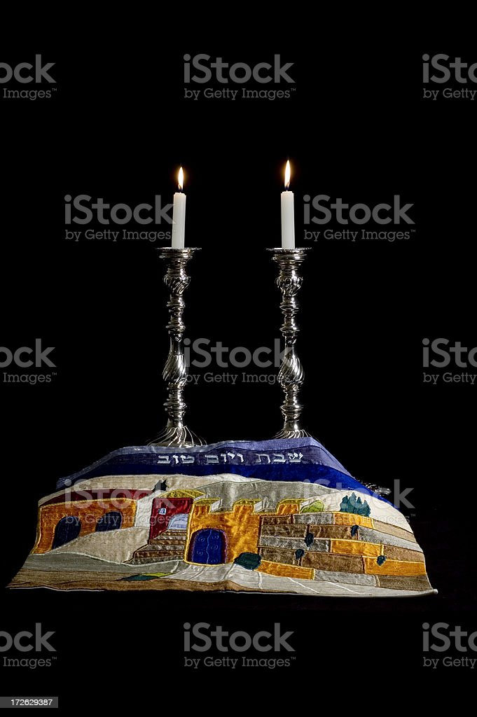 Shabbat - Jewish Sabbath royalty-free stock photo