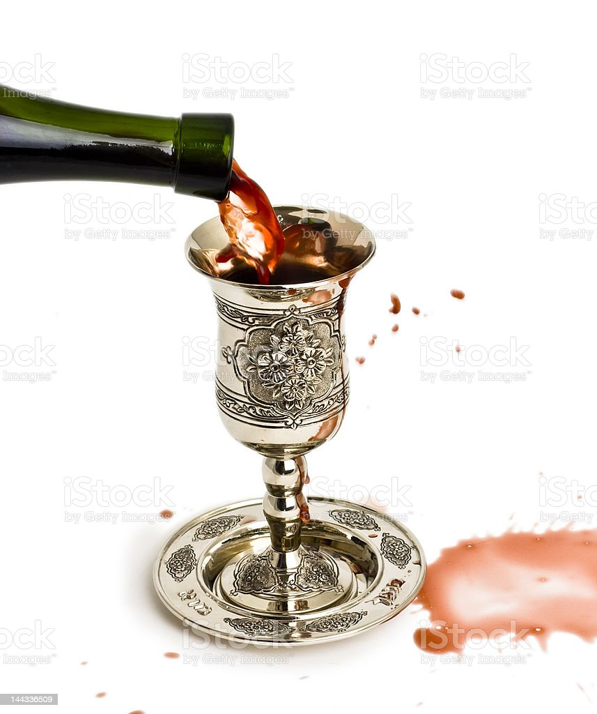 Shabbats wine in the cup royalty-free stock photo