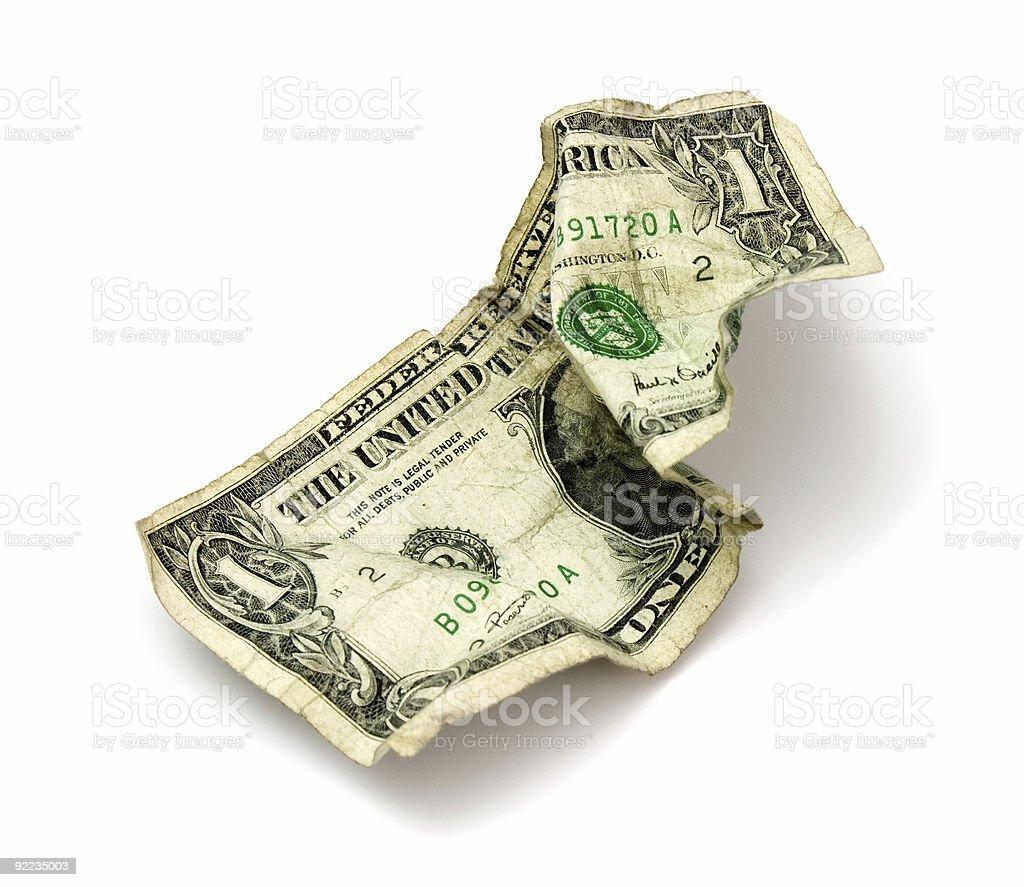 shabby banknote royalty-free stock photo