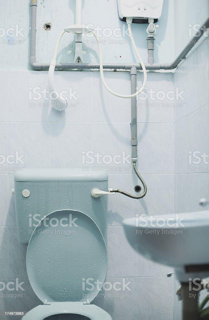 Shabby bathroom. royalty-free stock photo