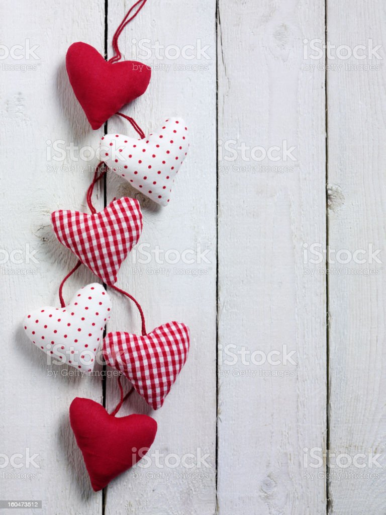 Shabby Chic Hearts royalty-free stock photo