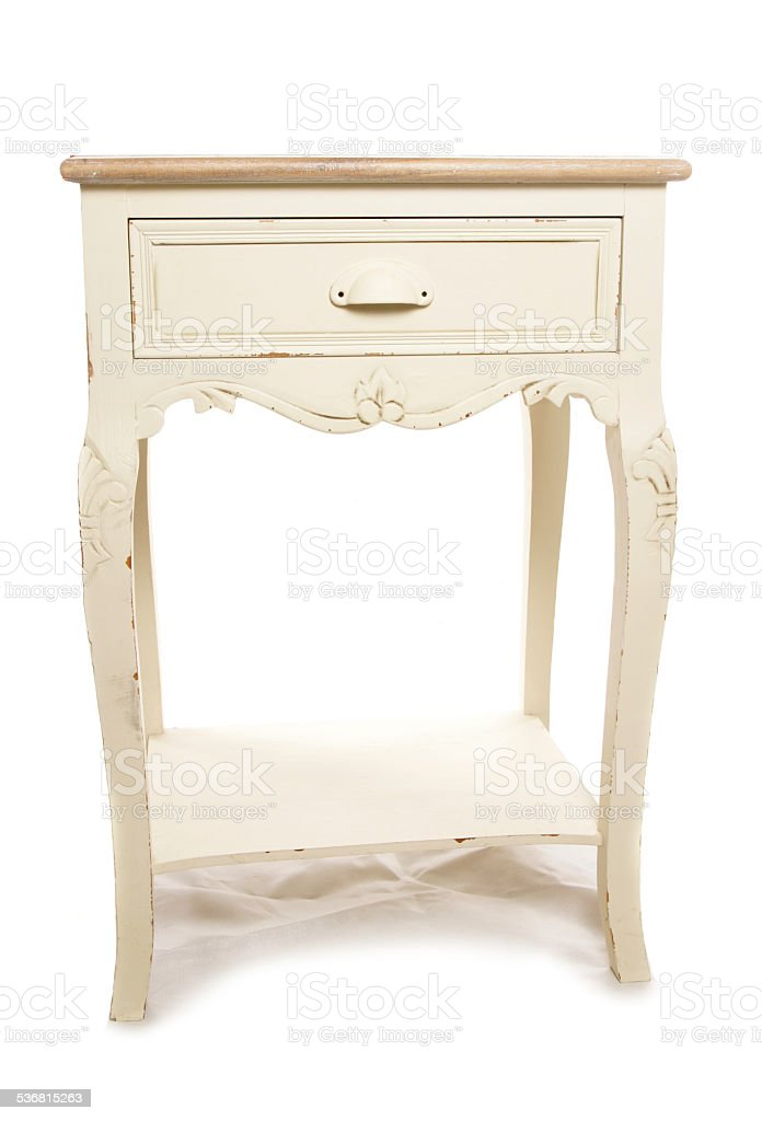 shabby chic telephone table stock photo