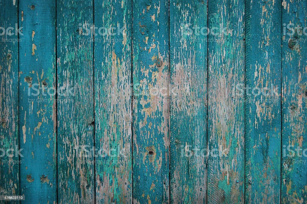 Shabby planks with cracked paint stock photo