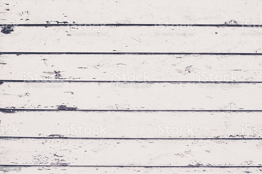 Shabby white boards background stock photo
