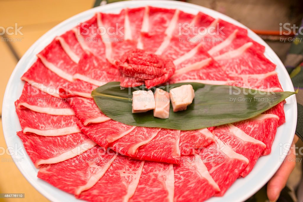 Shabu Beef stock photo
