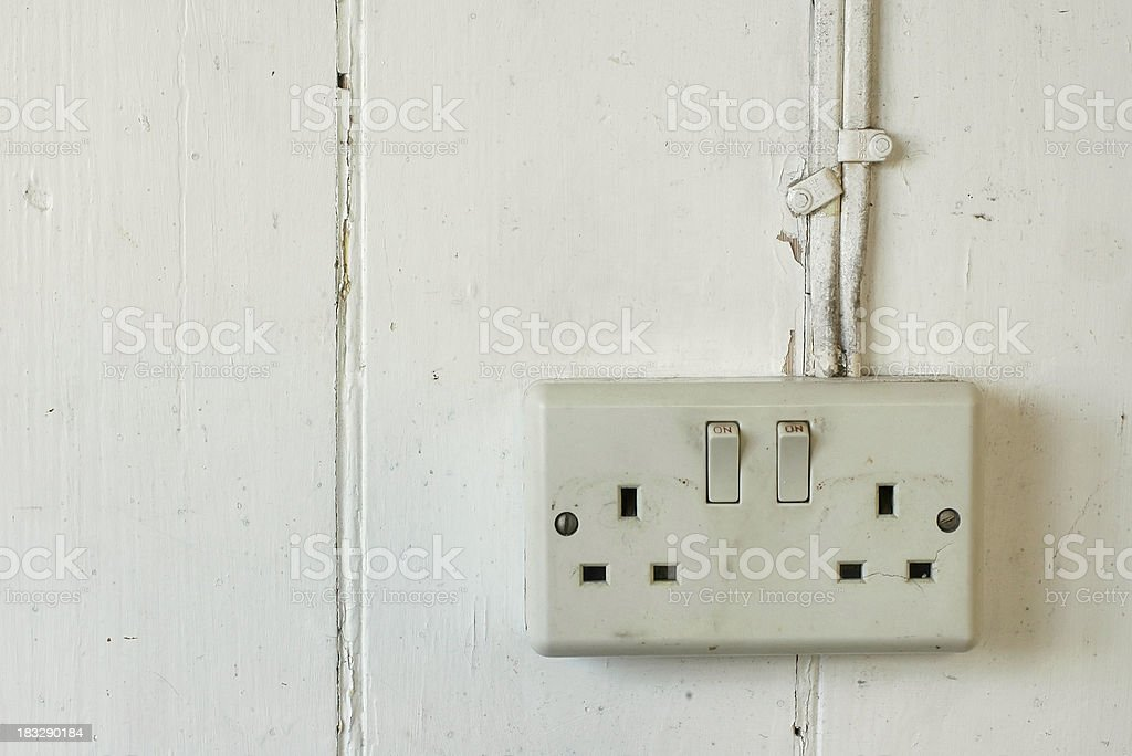 Shack - Power sockets royalty-free stock photo