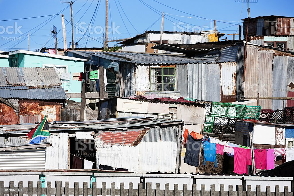 Shacks in Khayelitsha, Cape Town, South Africa royalty-free stock photo
