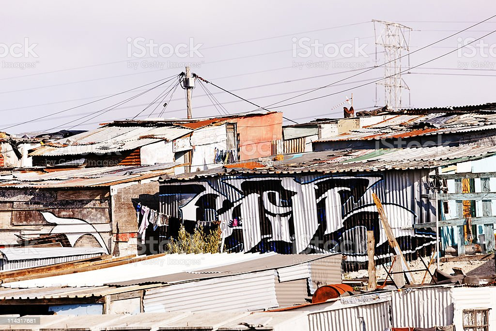 Shacks, South Africa royalty-free stock photo
