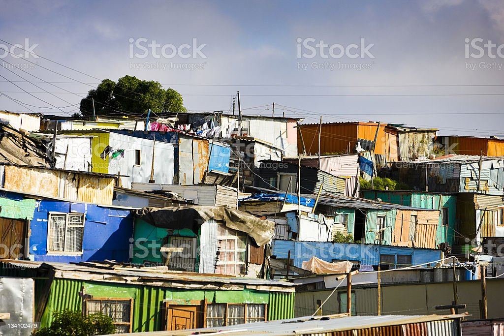 Shacks, South Africa stock photo