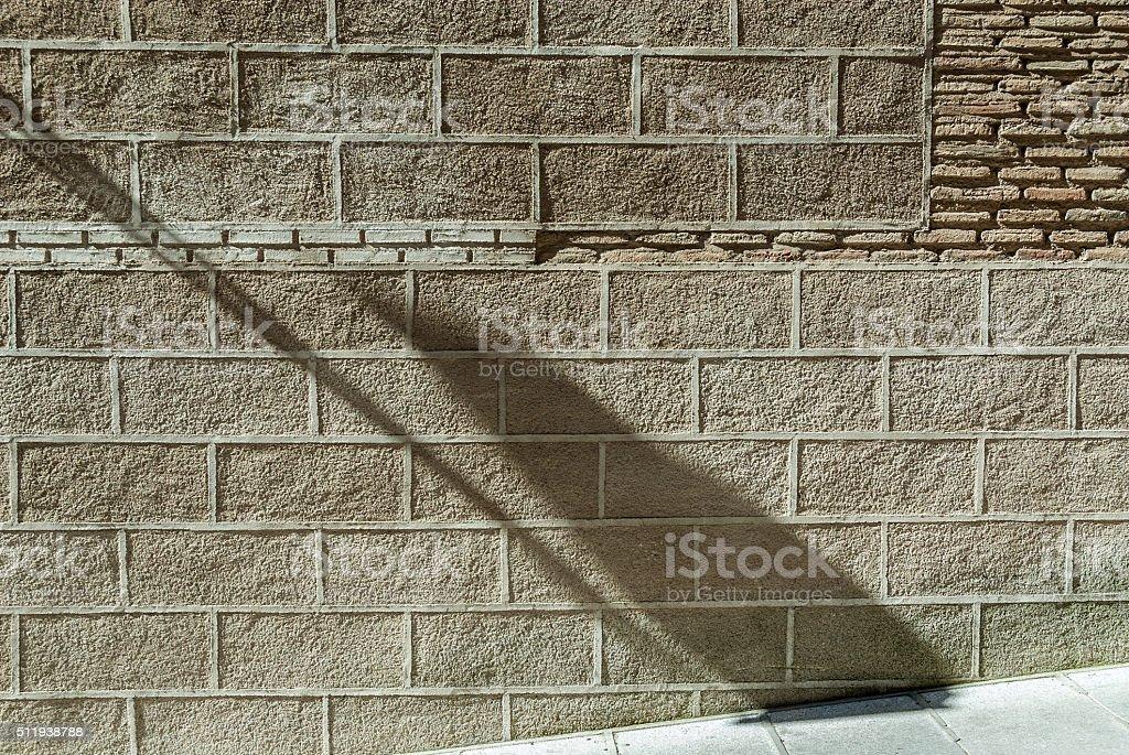 shade and wall stock photo
