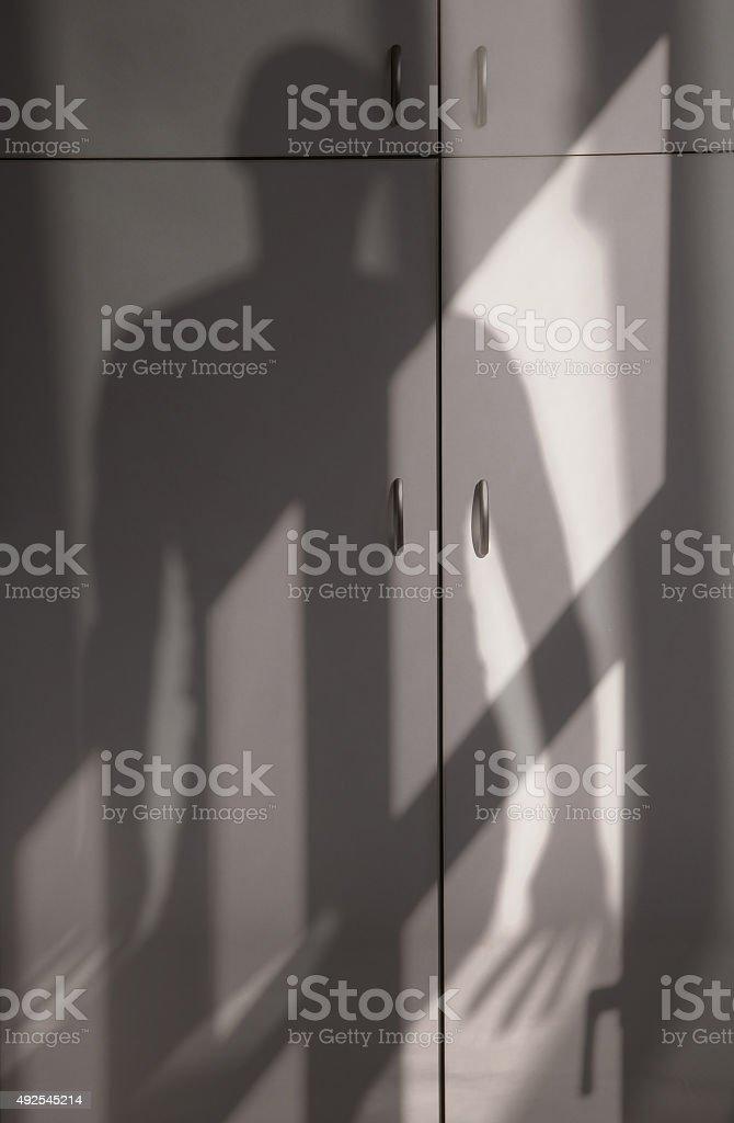 Shade of horror stock photo