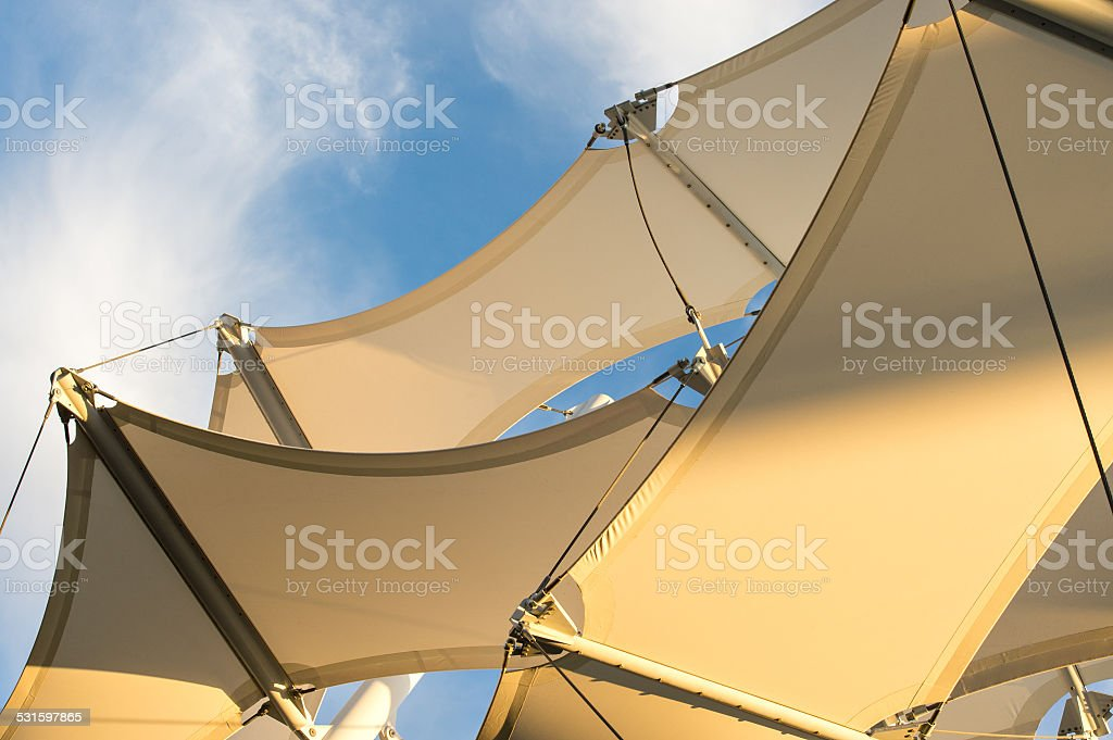 Shade Sail Structure stock photo