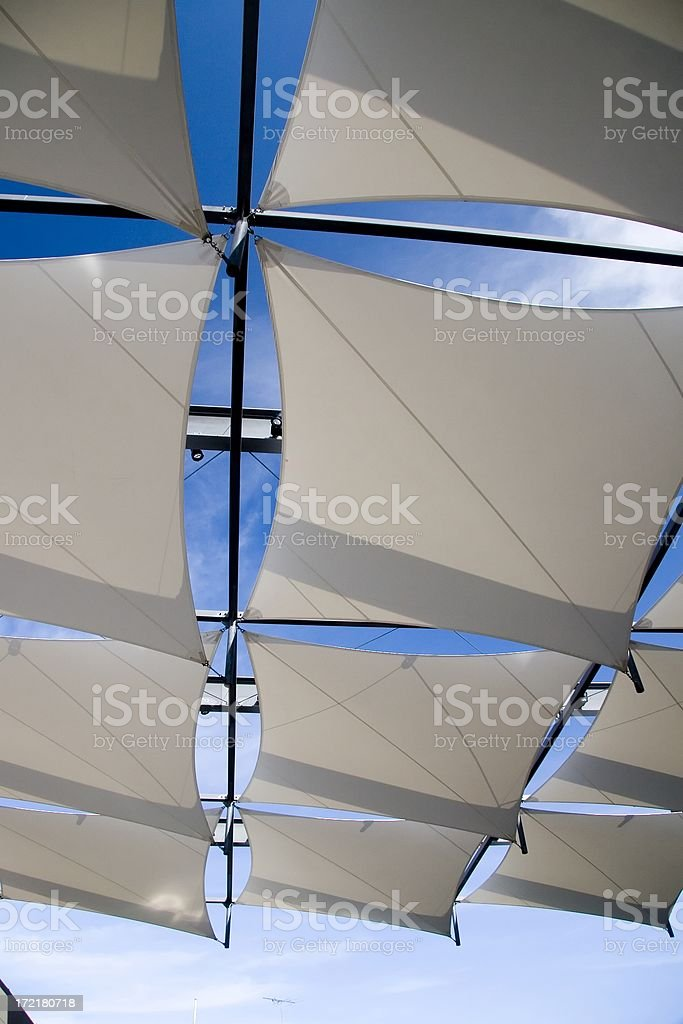 Shade sails royalty-free stock photo