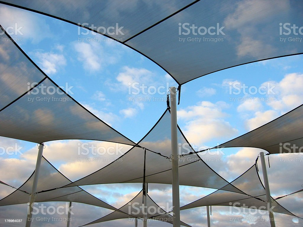 Shade Sails stock photo
