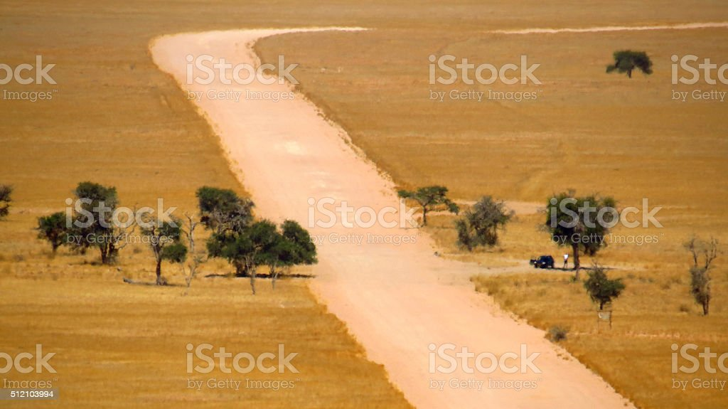 Shaded trees are welcome in Namibia stock photo