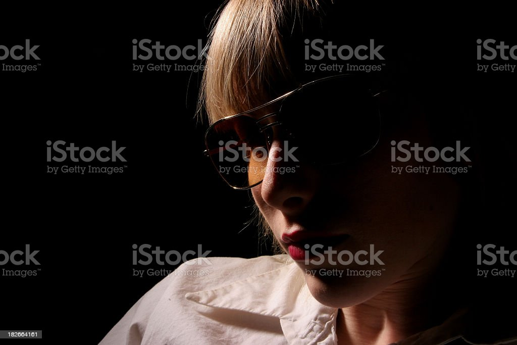 Shades in darkness royalty-free stock photo
