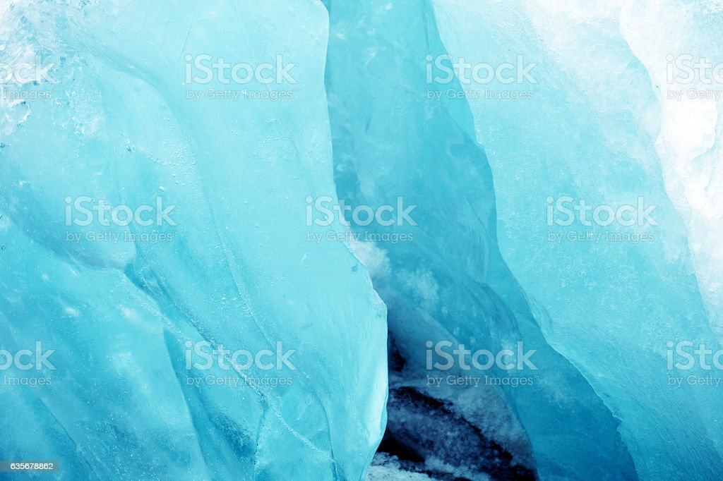 Shades of blue ice stock photo
