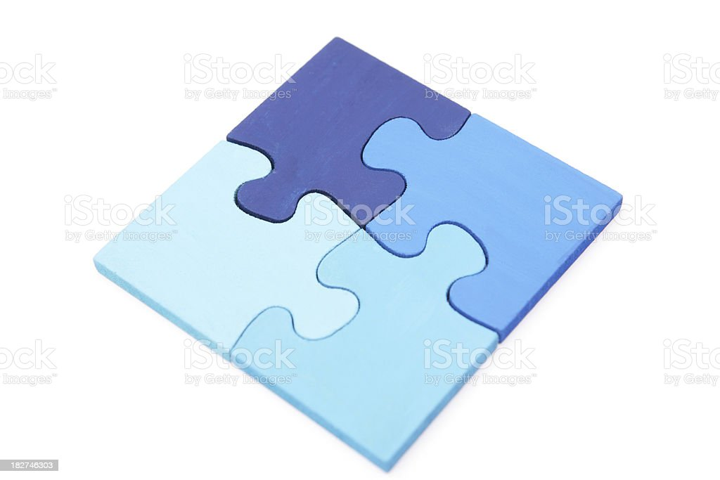 Shades of Blue Puzzle stock photo