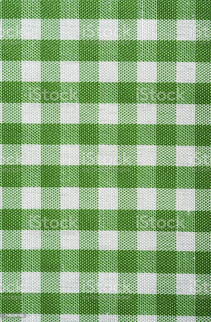 Shades of green squares dish towel stock photo