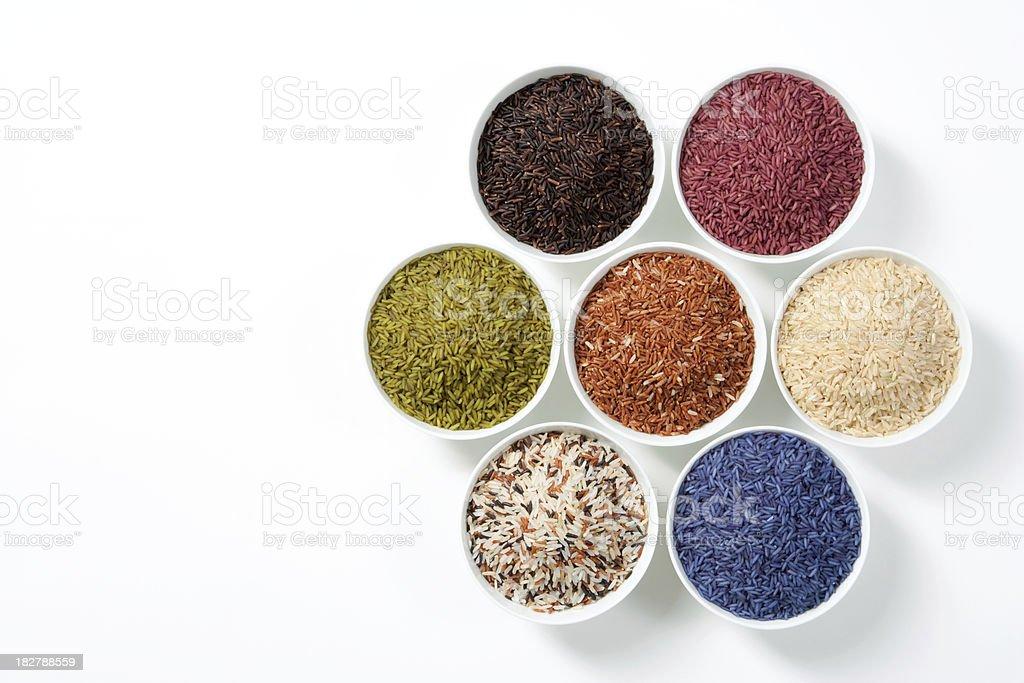 7 Shades Of Rice royalty-free stock photo