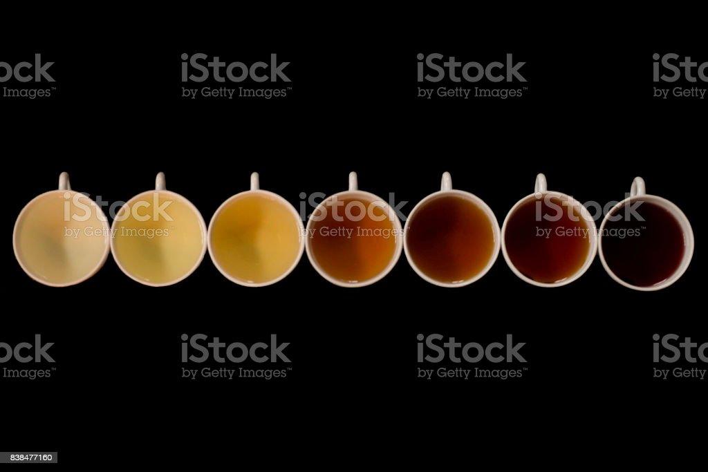 shades of tea stock photo