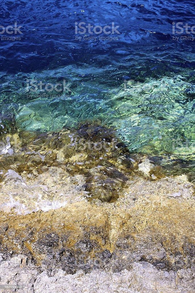 Shades Ионического с видом на океан Стоковые фото Стоковая фотография