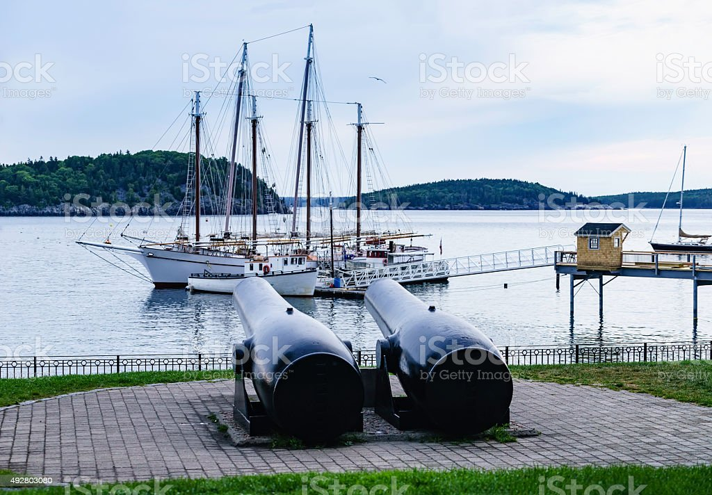 Shades of the Spanish American war in Maine stock photo