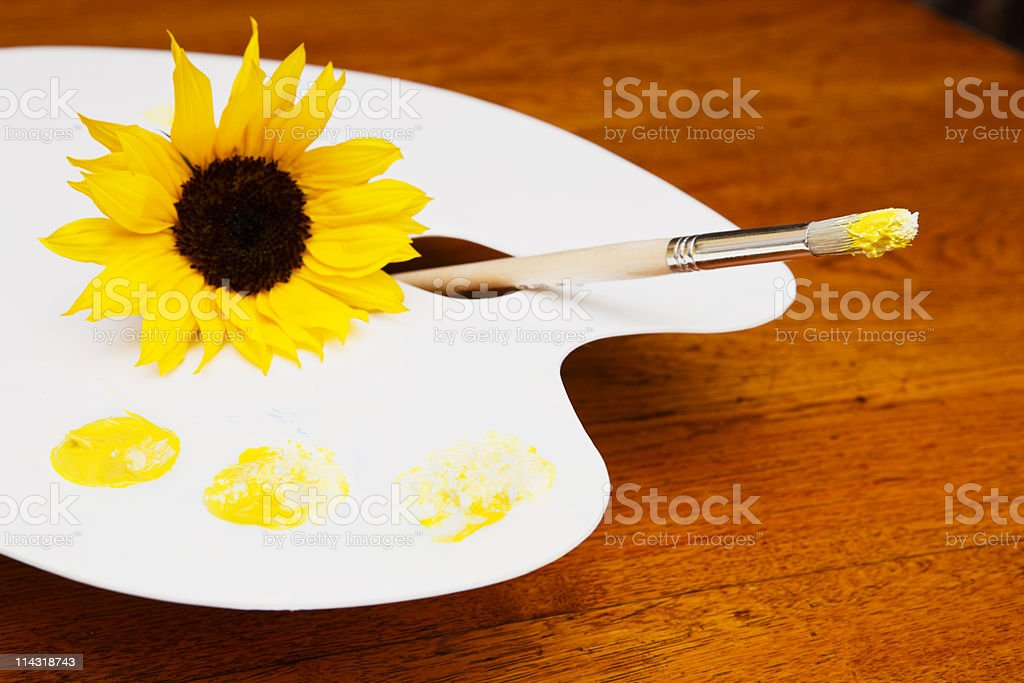 Shades of yellow royalty-free stock photo