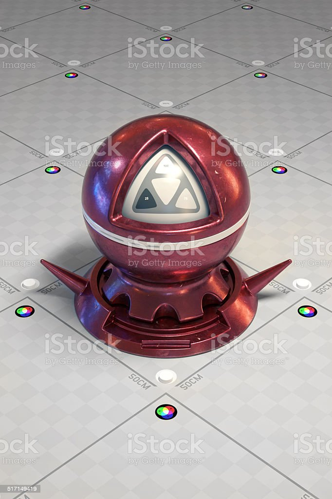 Shading with red metal. stock photo