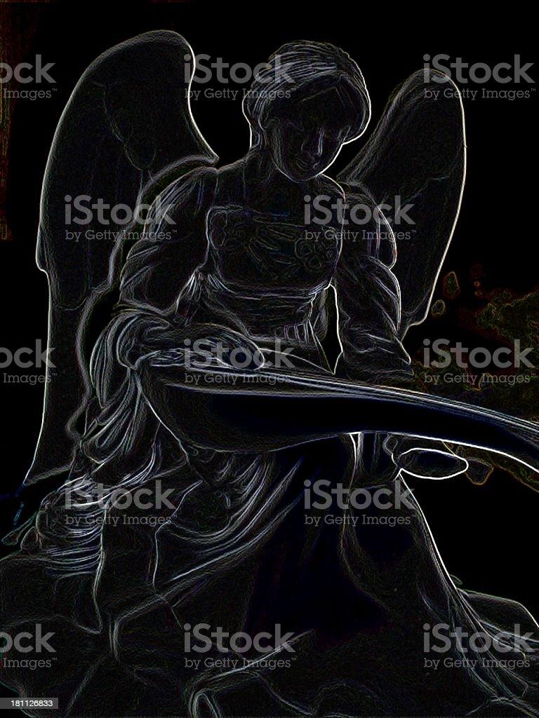 Shadow Angel royalty-free stock photo