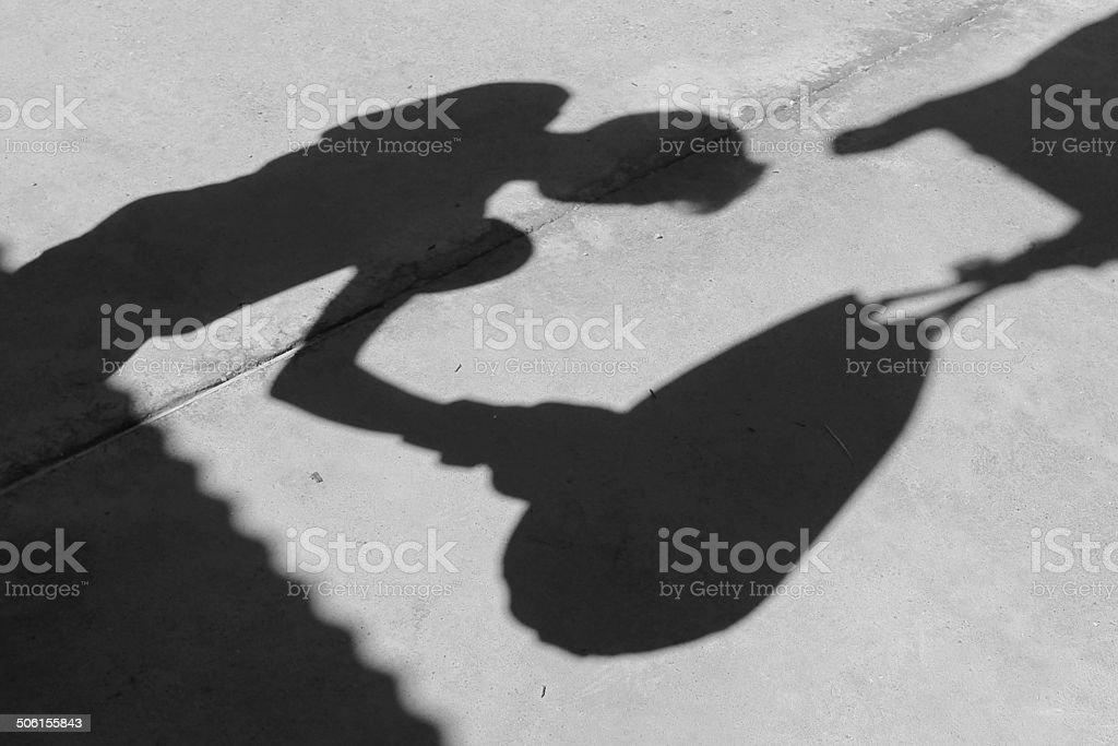Shadow Boxer stock photo