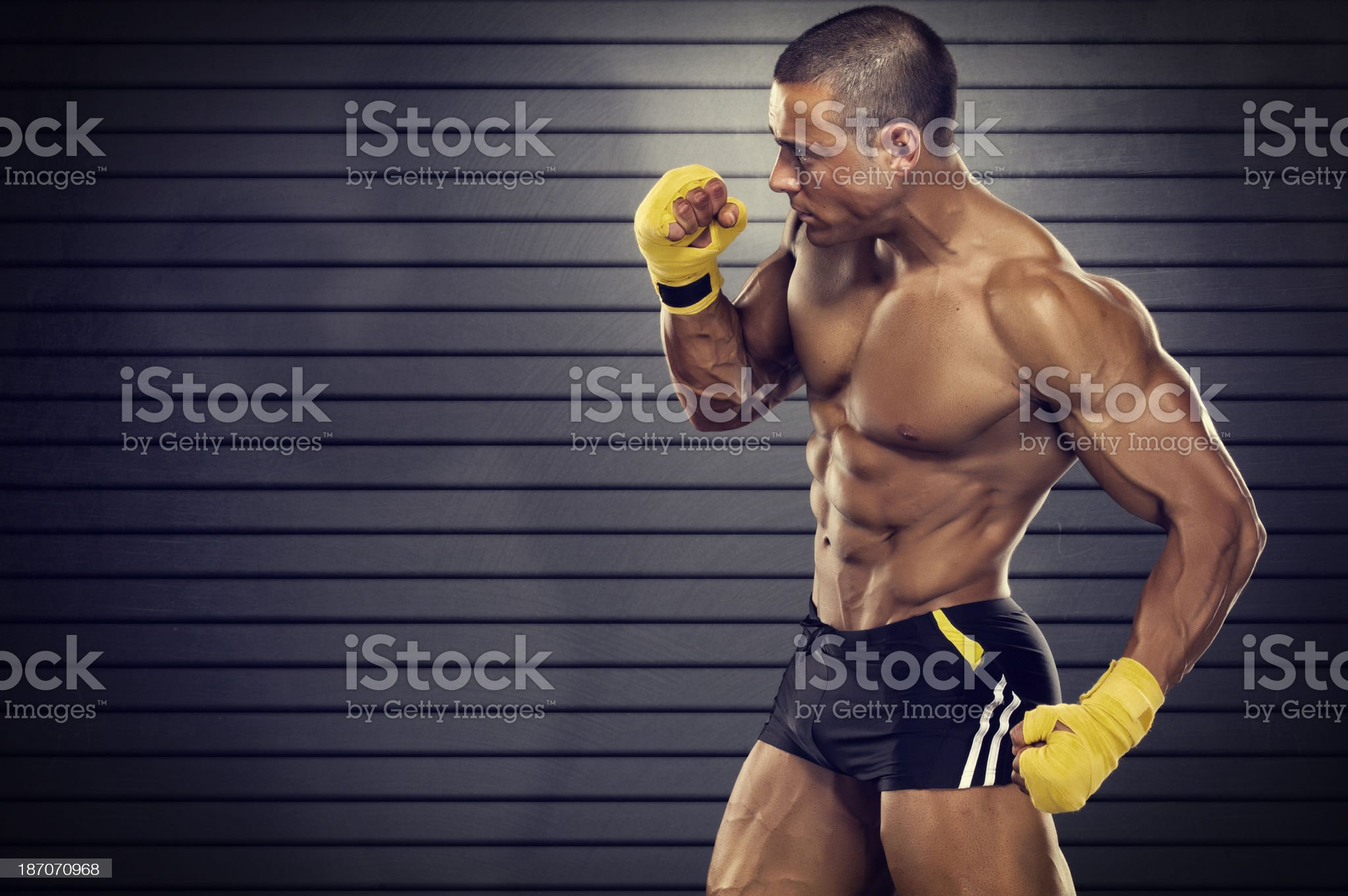 Shadow Boxing royalty-free stock photo
