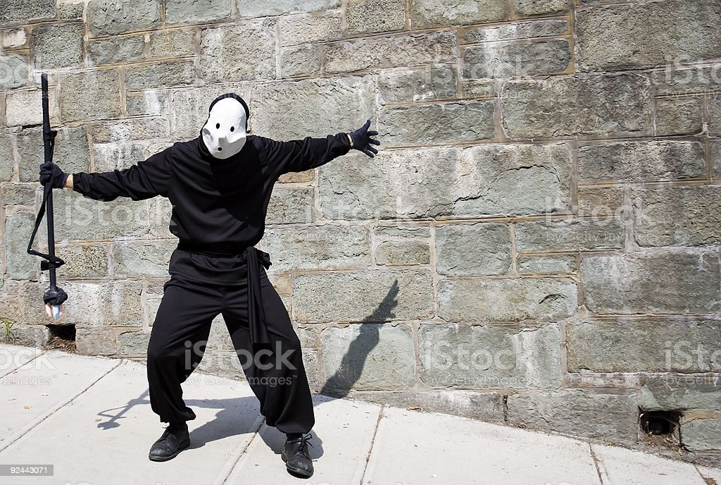 Shadow captor in Quebec city royalty-free stock photo